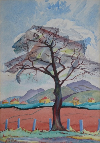 Winter Tree, Baberton Mains by Edwin G Lucas