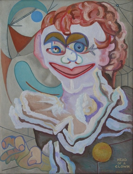 Head of a Clown by Edwin G Lucas